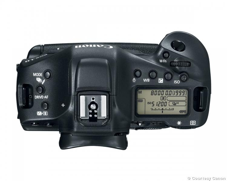 Canon EOS-1D X Mark II top