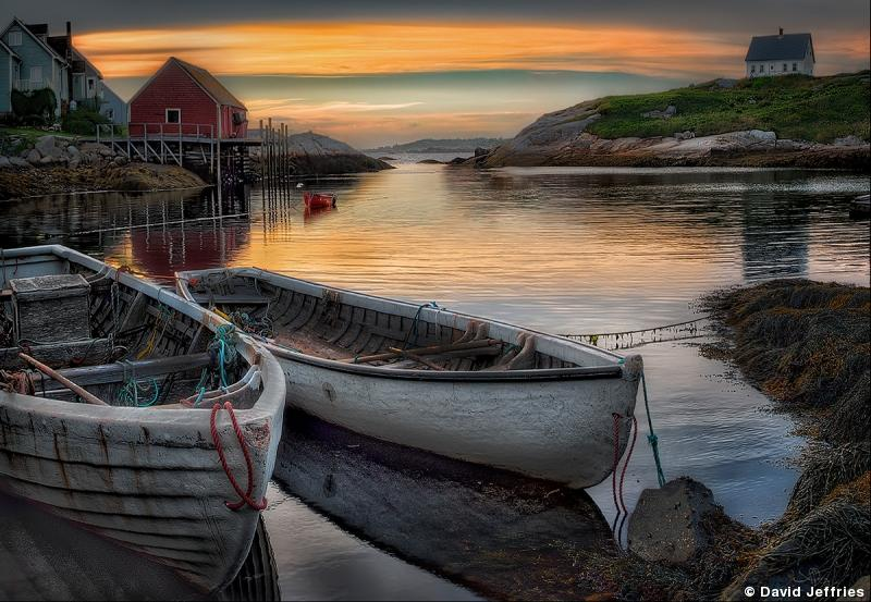 Dories at Dusk