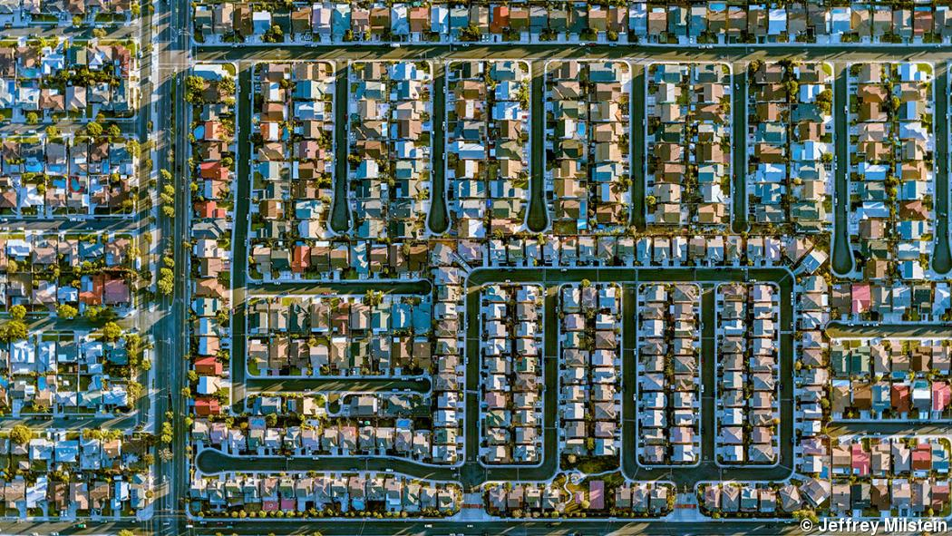 Aerial photography gives a lofty perspective on cities