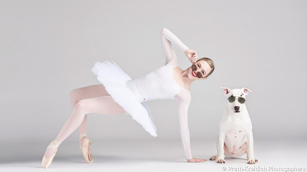 Photo series: Ballerinas and dogs