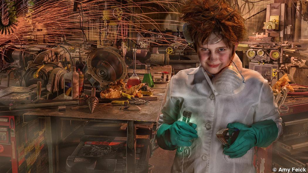 Amy Feick makes a mad scientist