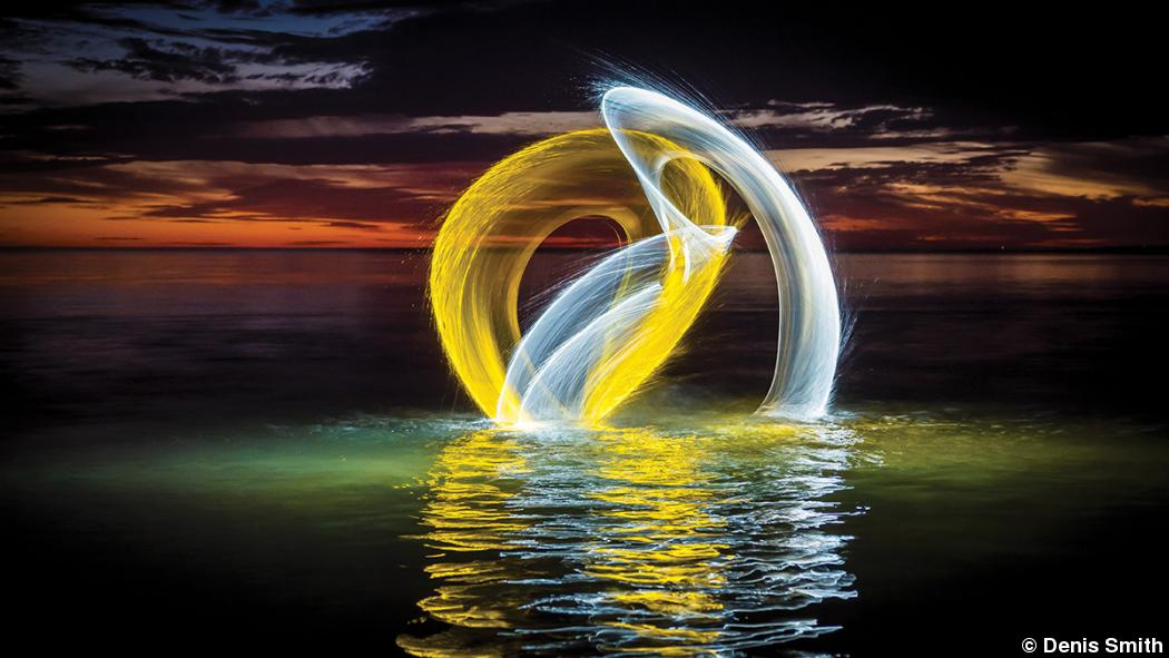 Photographer Denis Smith creates light sculptures from water