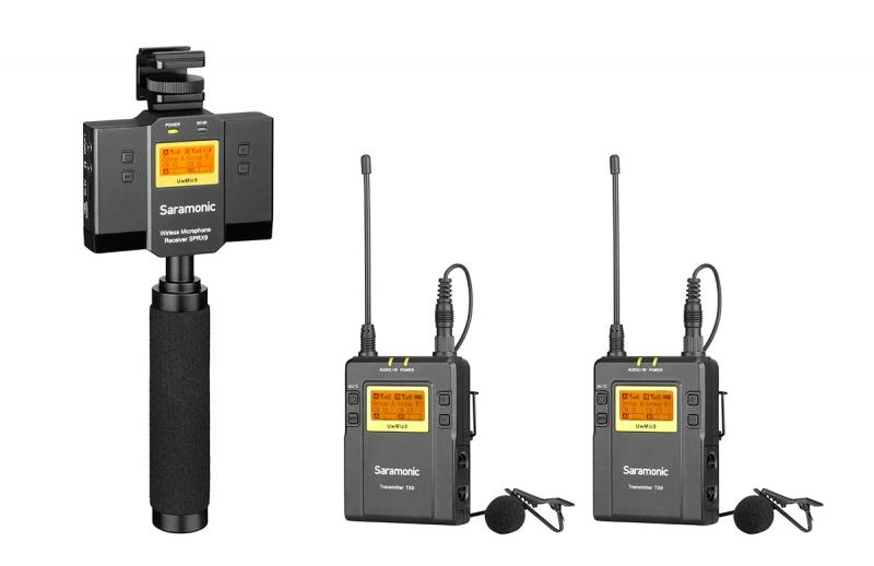 Saramonic Dual UHF Wireless Lavalier System and Audio Mixer